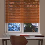 Wood Effect Chestnut Venetian Blind