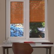 Wood Effect Chestnut Perfect Fit Venetian Blind