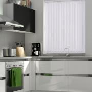 Clear White Vertical Blind