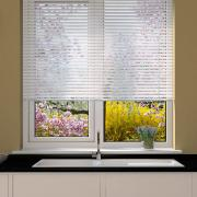 Perforated Matte White Venetian Blind