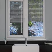 Perforated Silver Perfect Fit Venetian Blind