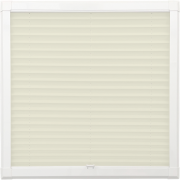 Cream Perfect Fit Pleated Blind
