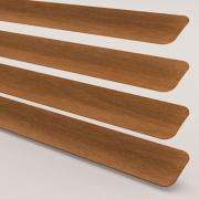 Wood Effect Teak Perfect Fit Venetian Blind