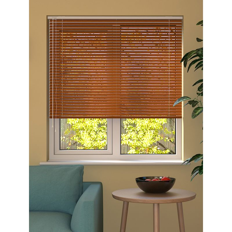 Wood Effect Teak Venetian Blind