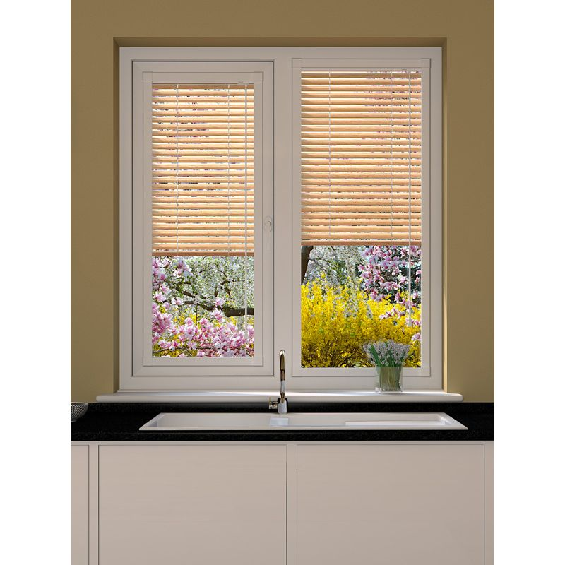 Wood Effect Maple Perfect Fit Venetian Blind