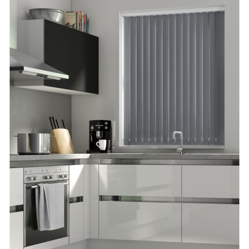 Charcoal Blackout Vertical Blind