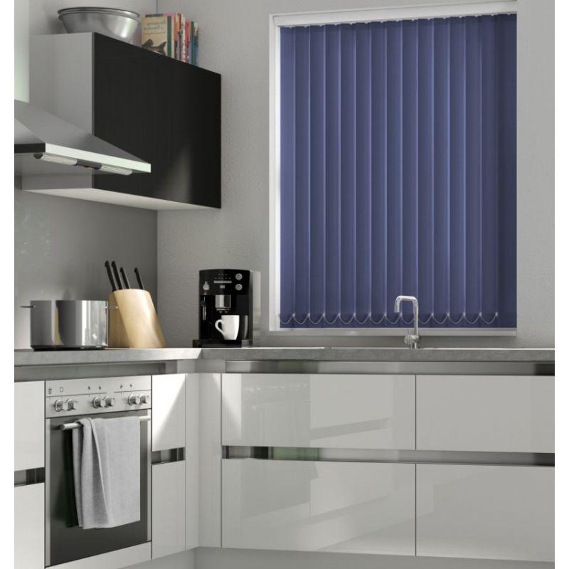 Dark Blue Vertical Blind - FR