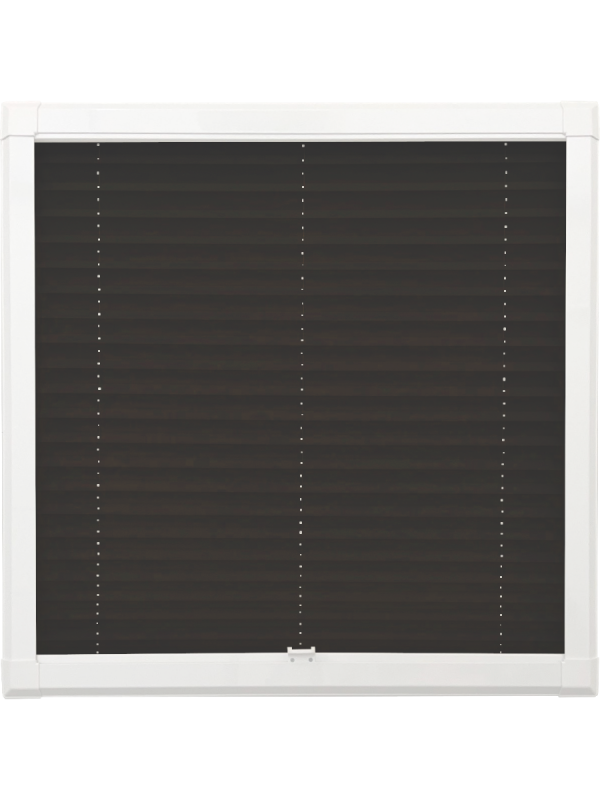 Black Perfect Fit Pleated Blind
