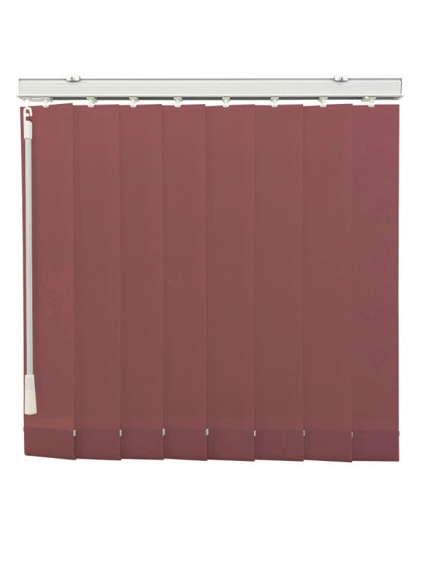 Wine Blackout Vertical Blind