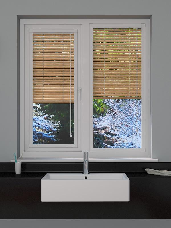 Wood Effect Pine Perfect Fit Venetian Blind