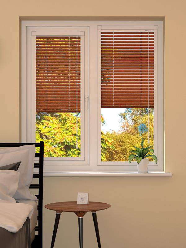 Wood Effect Rowan Perfect Fit Venetian Blind