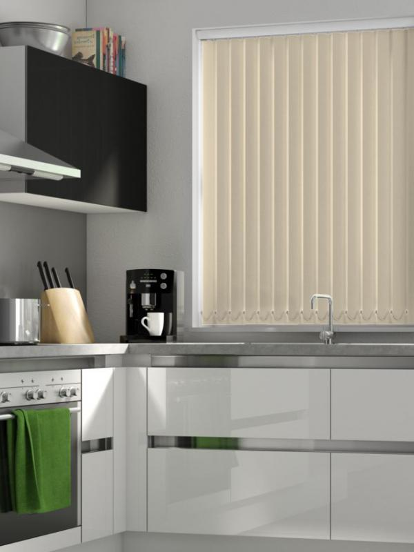 Beige Blackout Vertical Blind - FR
