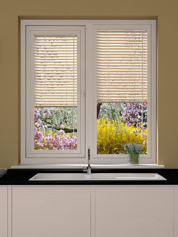 Cream Sparkle Perfect Fit Venetian Blind