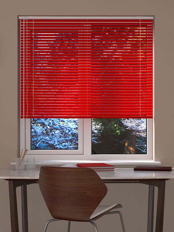 Fire Engine Red Venetian Blind