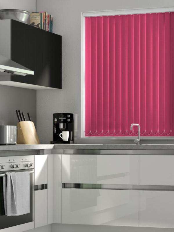 Fuschia Blackout Vertical Blind - FR