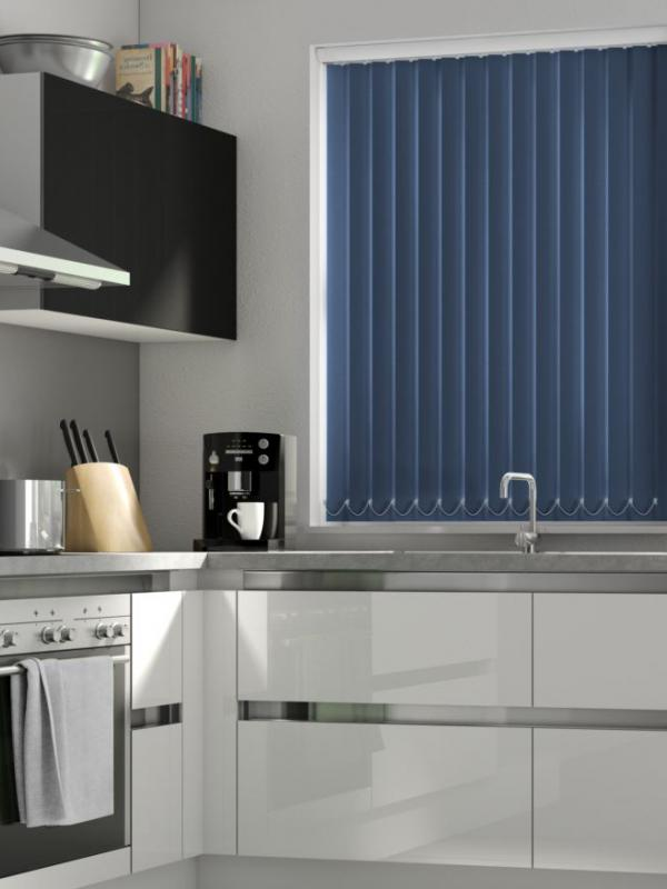 Navy Blackout Vertical Blind - FR