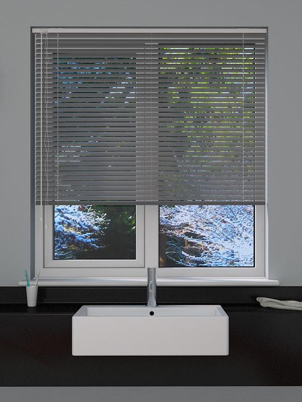 Perforated Silver Venetian Blind