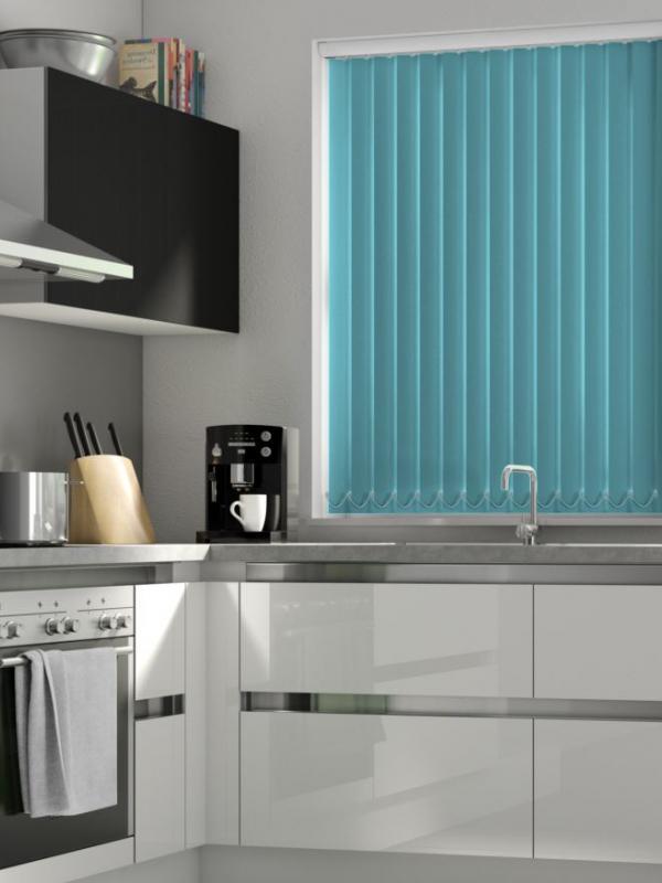 Teal Blackout Vertical Blind